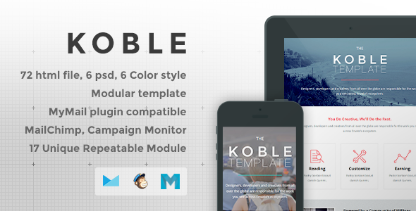 ThemeForest Koble Responsive Email Template 7902937