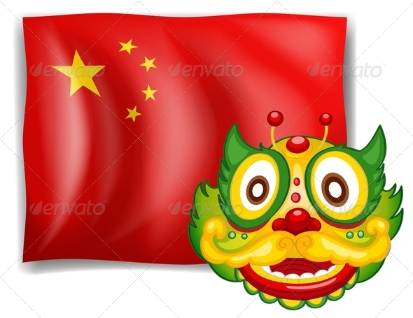 GraphicRiver Dragon and Chinese Flag 7902968