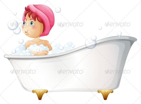 GraphicRiver Girl Having a Bath 7903049