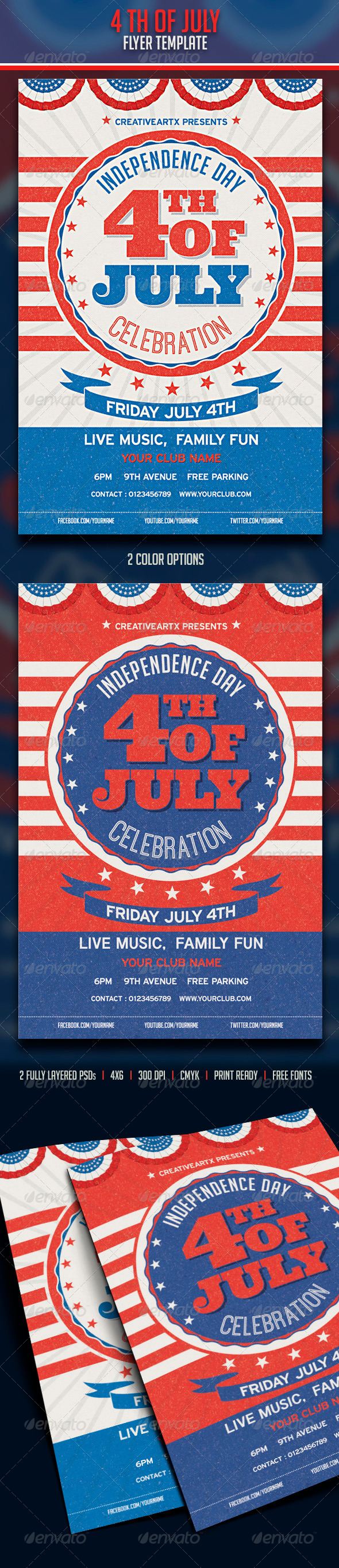 GraphicRiver 4th of July 7903231