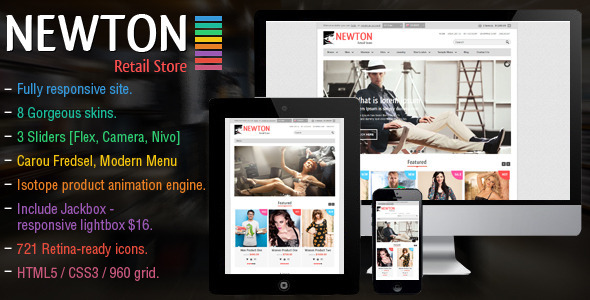 ThemeForest Newton Responsive Retail Template 7486855