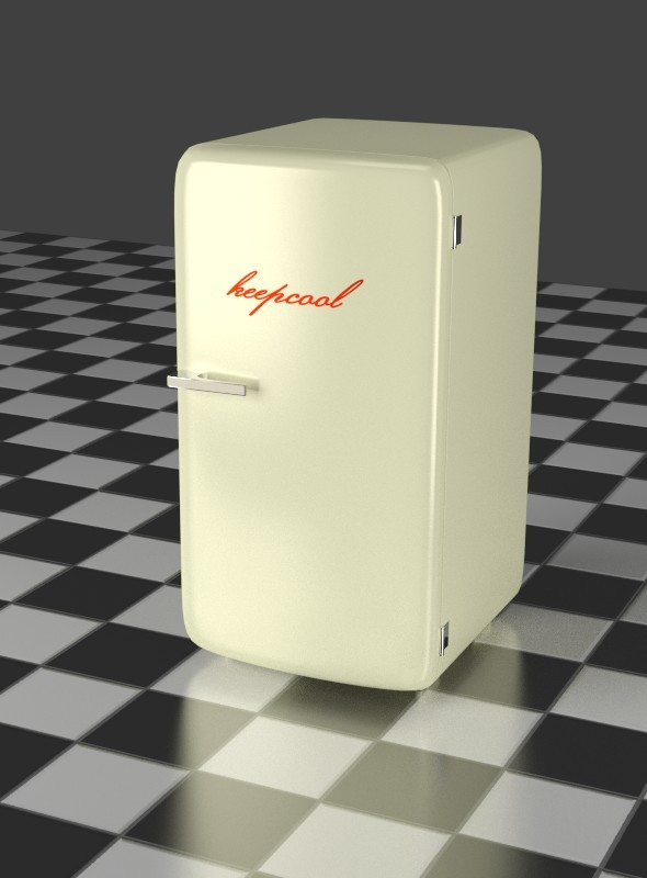 Refrigerator oldwhite - 3DOcean Item for Sale