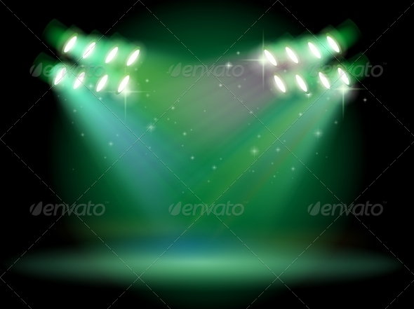 GraphicRiver Stage with Spotlights 7903300