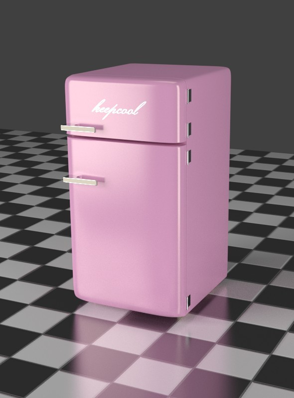 3DOcean Fridge Freezer Combi pink 7903682
