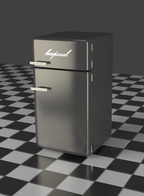 3DOcean Fridge Freezer Combi gray 7903705