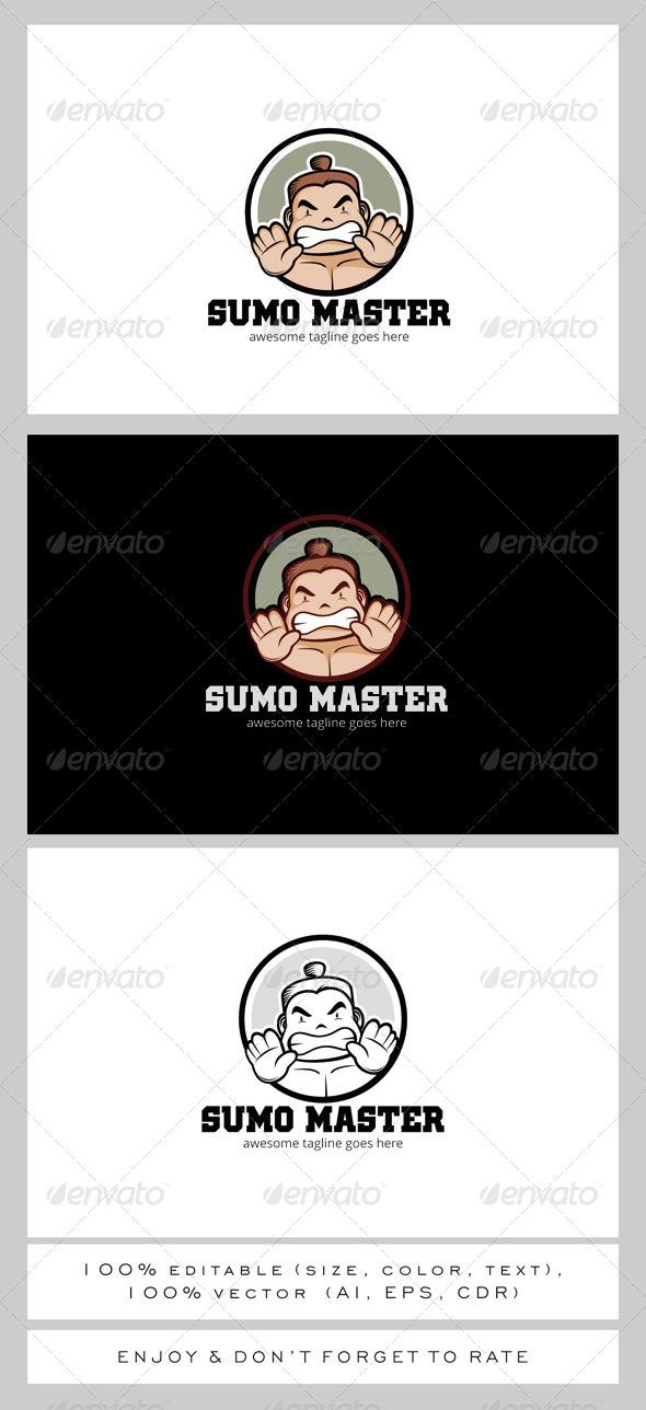GraphicRiver Sumo Master Logo Mascot 7903709