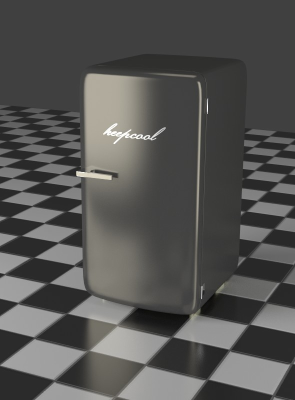 3DOcean A gray Refrigerator 7903762