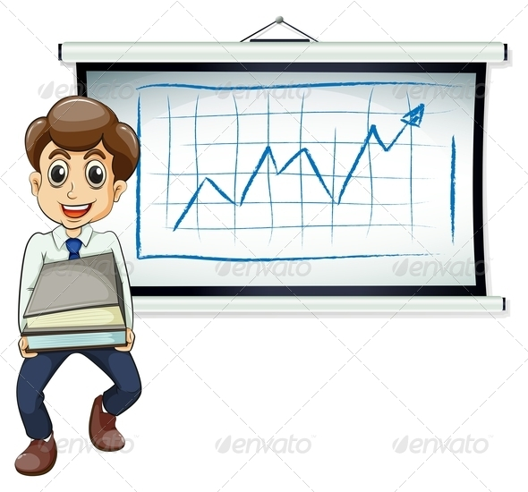 GraphicRiver Businessman with Documents and Chart 7903822