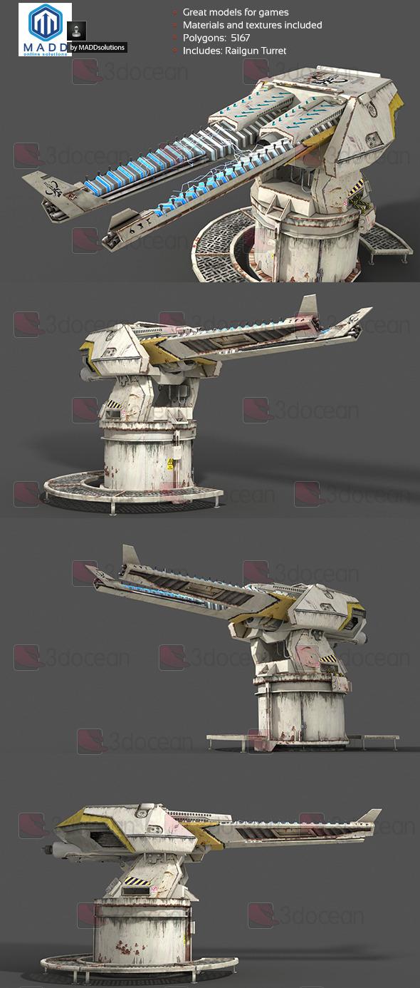 3DOcean Railgun Turret 7903829