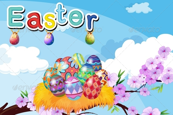 GraphicRiver Nest with Easter Eggs 7903834