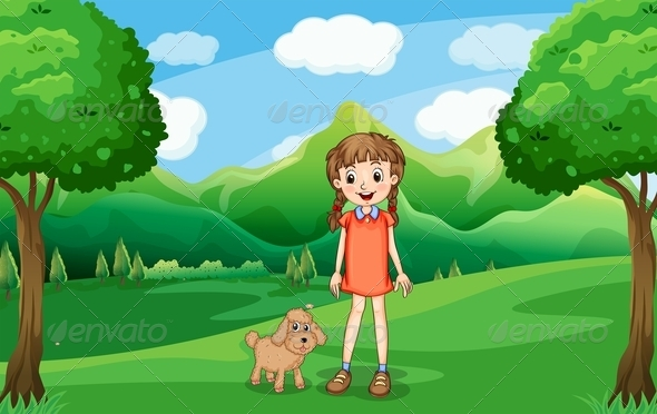 GraphicRiver Girl and her Puppy 7903835