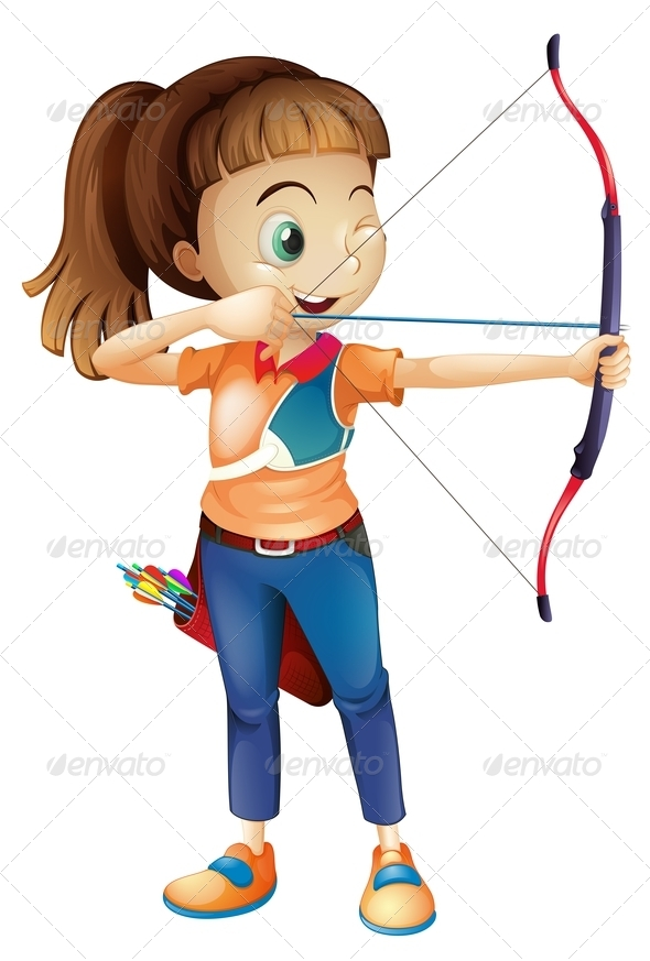 GraphicRiver Girl with Bow 7904142
