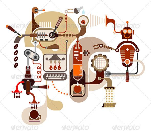 GraphicRiver Coffee Factory Illustration 7904178