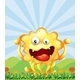 Yellow Monster in Field - GraphicRiver Item for Sale