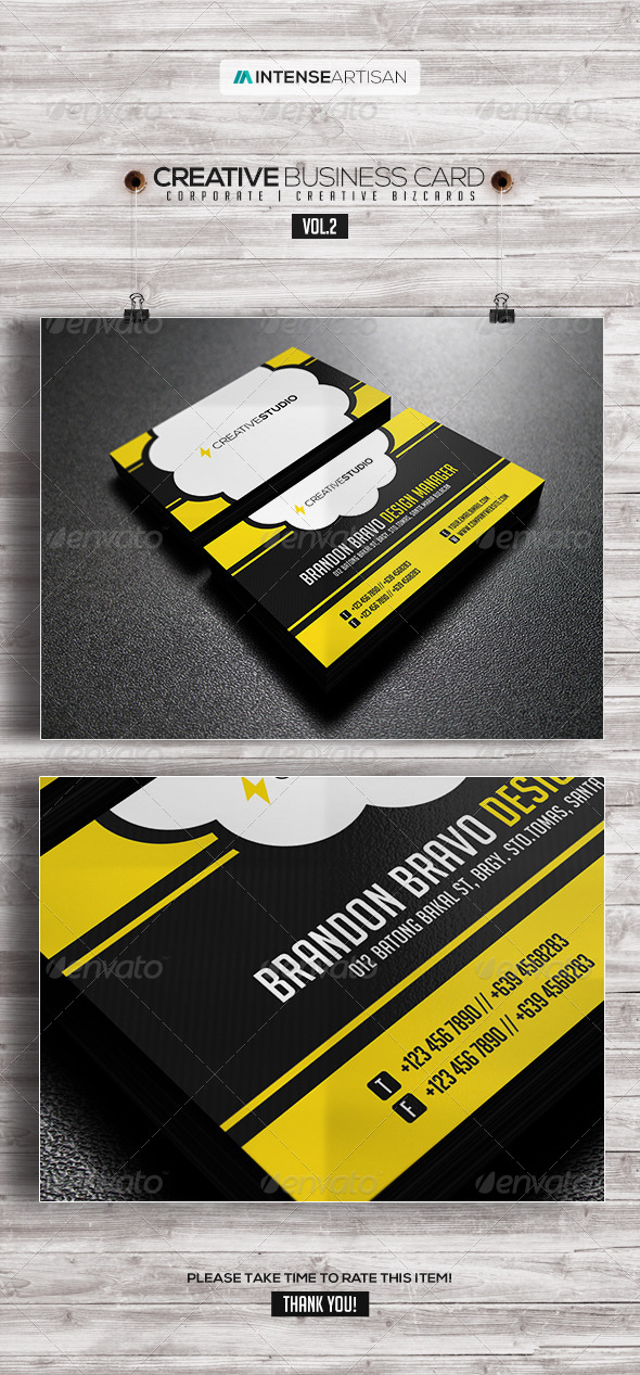 GraphicRiver IntenseArtisan Business Card Vol.2 7904246