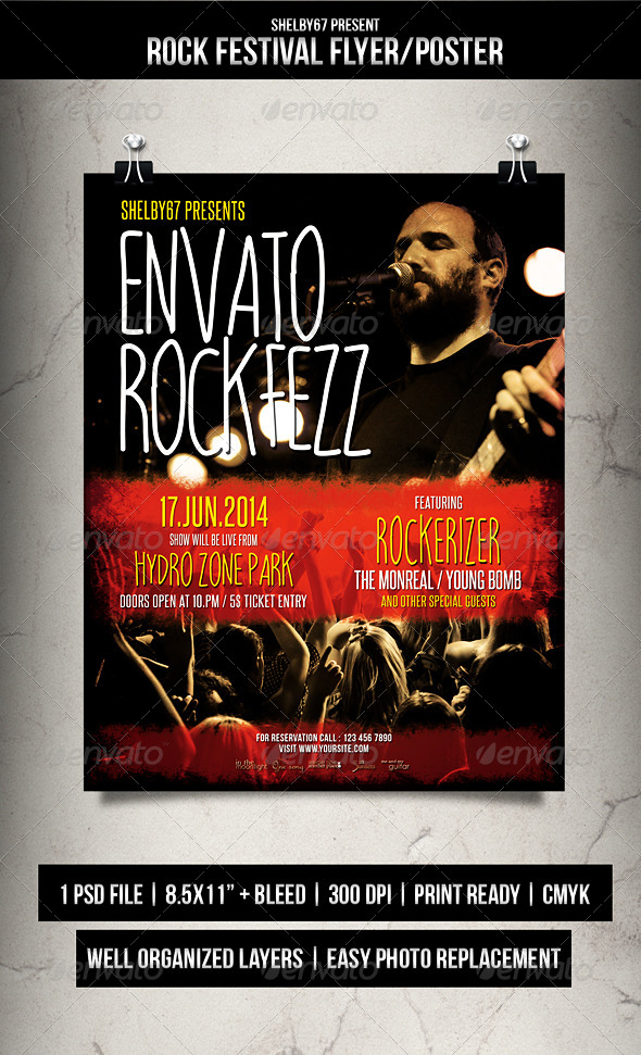 GraphicRiver Rock Festival Flyer Poster 7893551