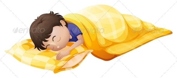 GraphicRiver Boy Sleeping Soundly 7904321