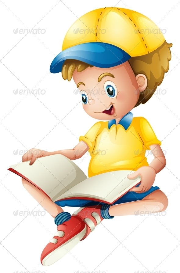 GraphicRiver Boy with Blank Book 7904372