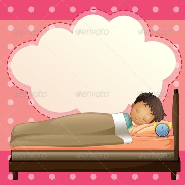 GraphicRiver Boy Sleeping with Empty Callout 7904393