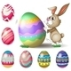Bunny Pushing Easter Egg - GraphicRiver Item for Sale