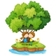 An Island with a Sweet Couple - GraphicRiver Item for Sale