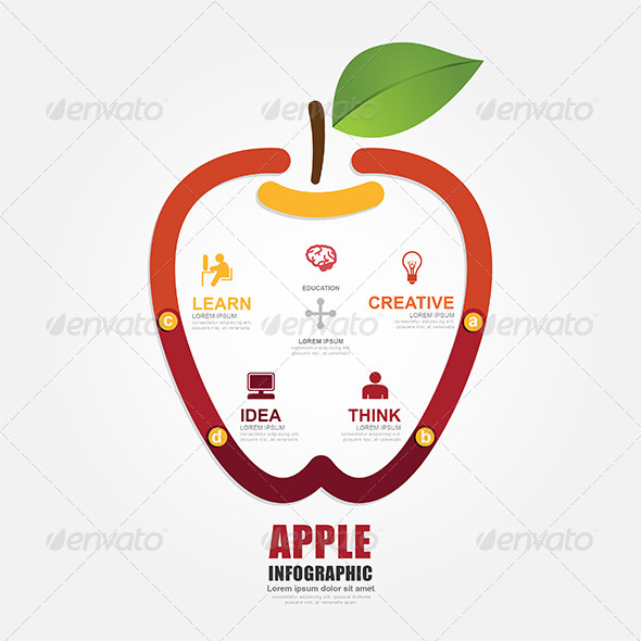 GraphicRiver Infographics Vector Apple Design Diagram Line 7905026