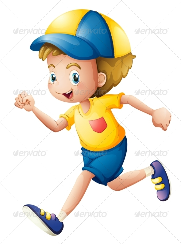 GraphicRiver A Little Boy Running 7905030