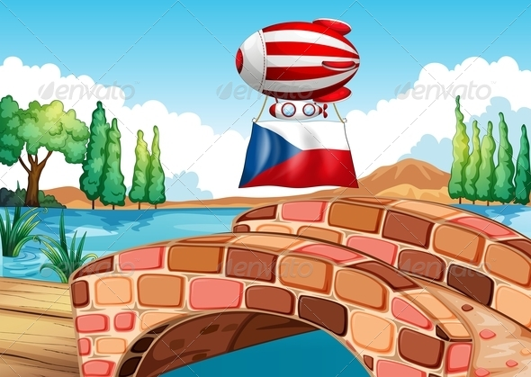 GraphicRiver A Floating Balloon with the Czech Republic Flag 7905031