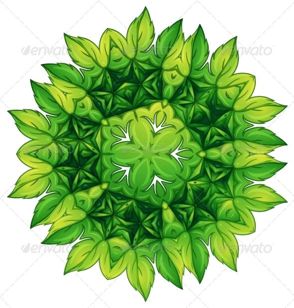 GraphicRiver Green Leafy Border Design 7905081