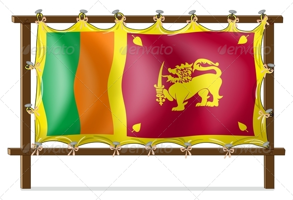 A Wooden Frame with the Flag of Sri Lanka