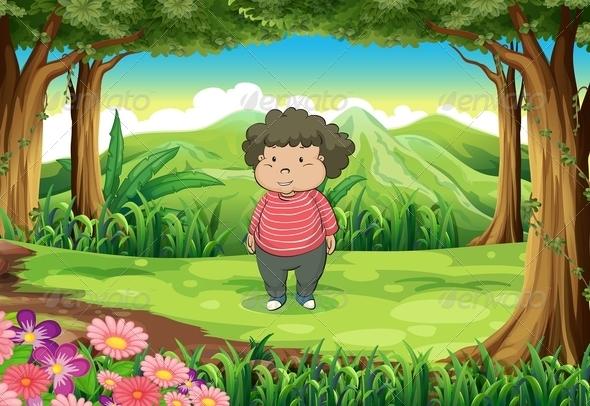 GraphicRiver A Fat Woman at the Jungle 7905404