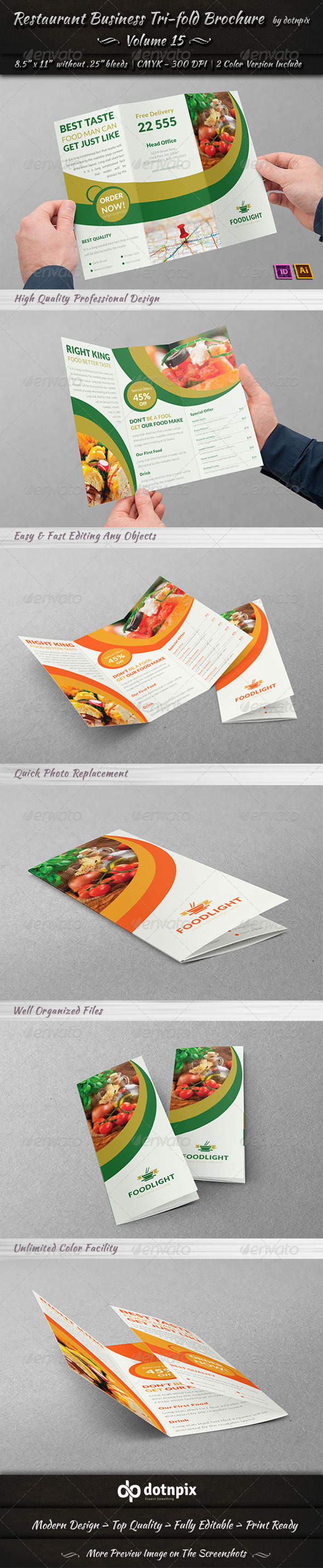 GraphicRiver Restaurant Business Tri-Fold Brochure Volume 15 7905417