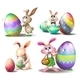 Bunnies with Easter Eggs - GraphicRiver Item for Sale