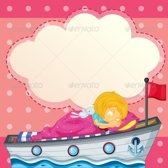 GraphicRiver A Young Girl Sleeping at the Ship 7905436