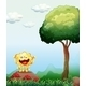 Smiling Monster Above a Rock Near Red Mushrooms - GraphicRiver Item for Sale