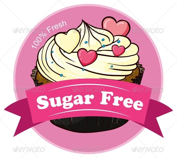 GraphicRiver A Mocha Cake with a Sugar Free Label 7905549