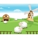 Farm on the Hills with Sheeps - GraphicRiver Item for Sale