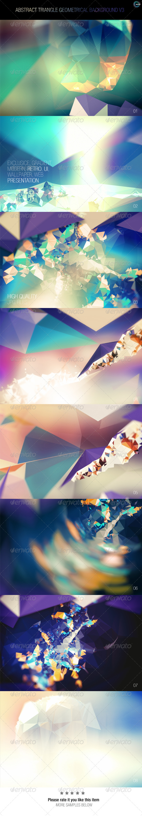 GraphicRiver Abstract Triangle Geometrical Background V3 7905689