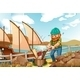 Chopping Wood Near the River - GraphicRiver Item for Sale