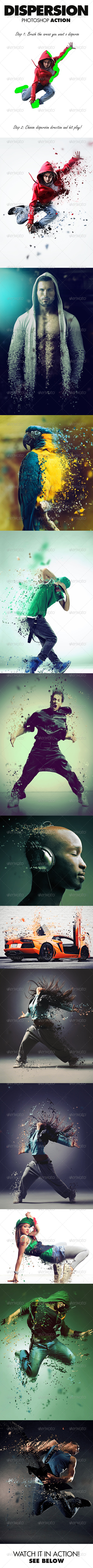 GraphicRiver Dispersion Photoshop Action 7905698