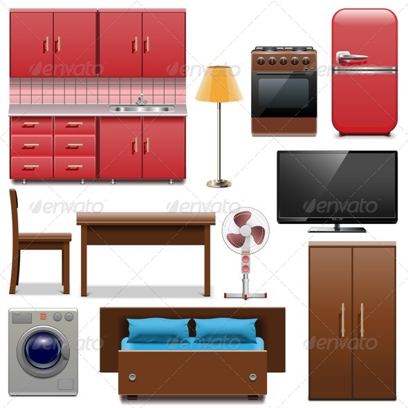 GraphicRiver Vector Furniture Icons 7905745