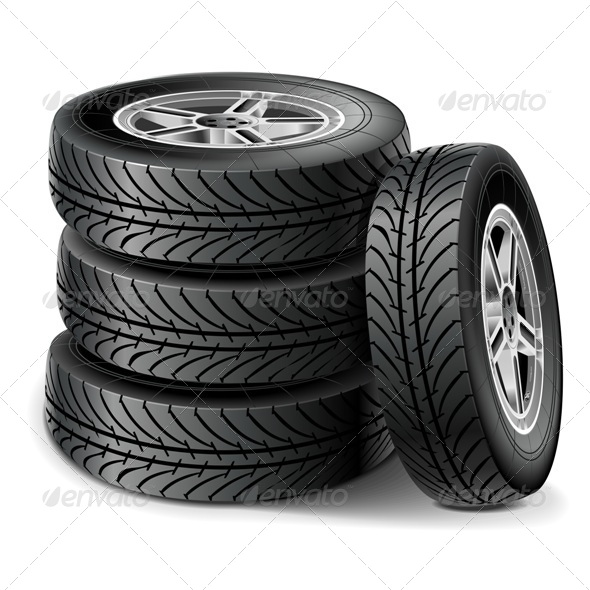 GraphicRiver Vector Tire Set 7905760