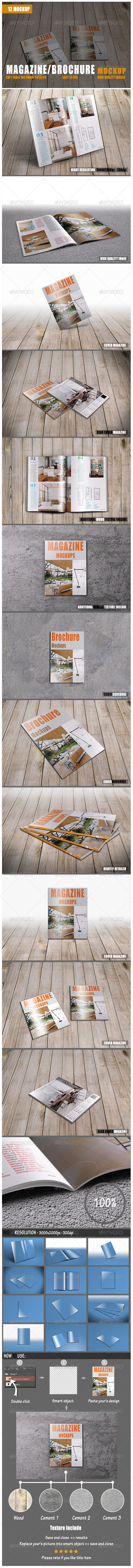 GraphicRiver Magazine Brochure Mockup 7905769