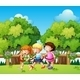 Kids Playing Outdoor During Daytime - GraphicRiver Item for Sale