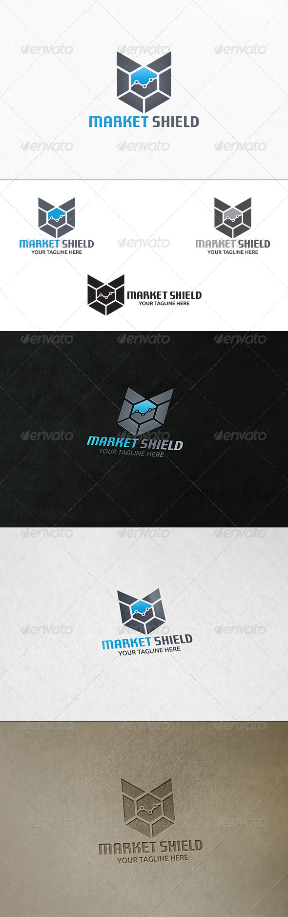 GraphicRiver Market Shield Logo Template 7905838
