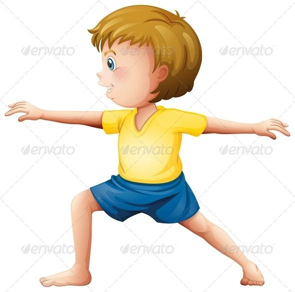 GraphicRiver Teenager Doing Yoga 7905943