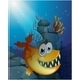Scary Fish Under the Sea Near the Rocks - GraphicRiver Item for Sale