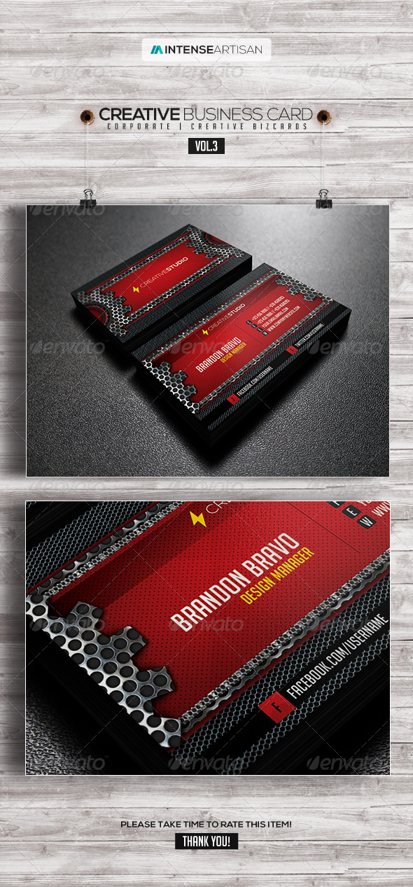 GraphicRiver IntenseArtisan Business Card Vol.3 7904854