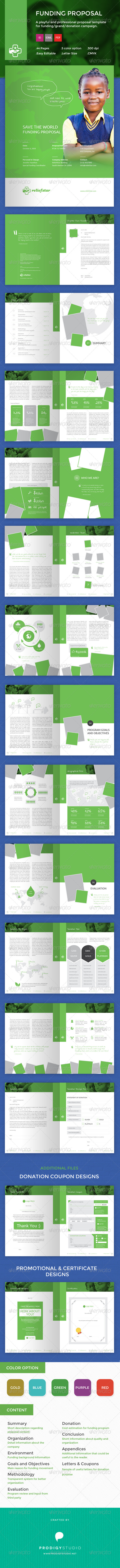 GraphicRiver Funding Charity Donation Grant Proposal 7906265