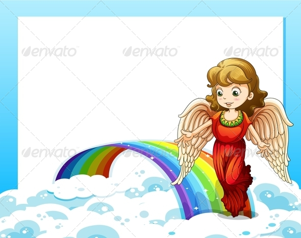 GraphicRiver Empty Template with a Rainbow and an Angel 7906267